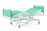 Medical transform  bed isolated at the white background