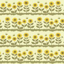 tournesols et les abeilles
