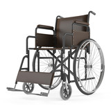 Wheelchair front isolated at the white background