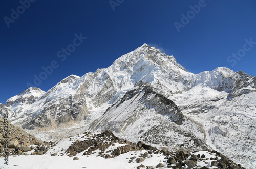 nuche summit beside of everest from kallapather summit