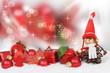 Weihnachtsdekoration vor Bokeh