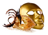Venetian masks isolated on  white