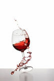Red Wine glass falling