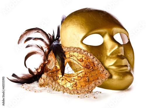 Venetian masks isolated on  white