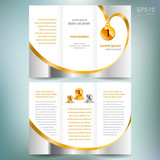 brochure design award winner element gold