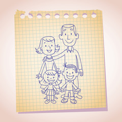 family note paper sketch