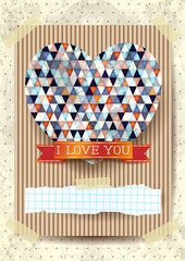 Valentine card with stunning heart
