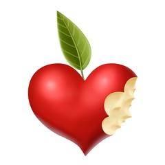 cuore mela