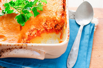 Pumpkin and Minced Meat Bake