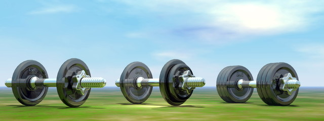 Dumbbells - 3D render
