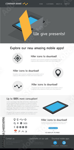 Awesome flat design web template