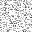 pattern with rabbits