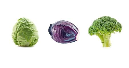 three cabbage