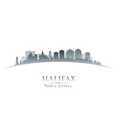 Halifax Nova Scotia Canada city skyline silhouette white backgro