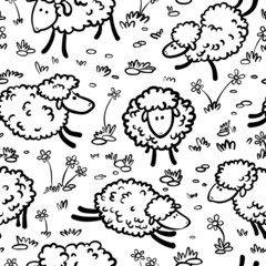 seamless with sheeps © gollli