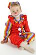 Junge verkleidet in Clown-Kostüm
