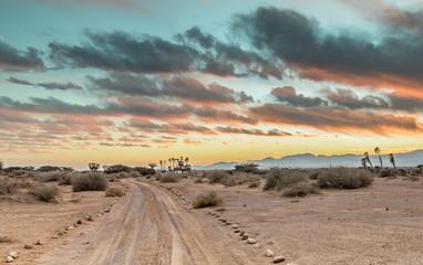 Sunset in the Araba valley near Eilat, Israel