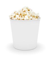 Full bucket of popcorn.