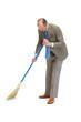 Businessman sweeps