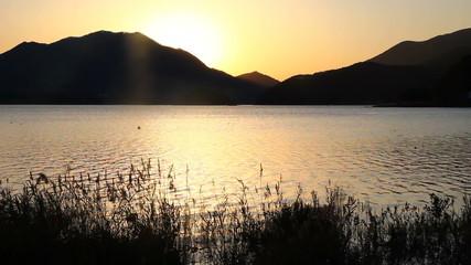 Lake Kawaguchi sunset