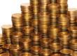 Монеты, сложенные в столбики. Рост доходов