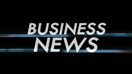 Business News Text with Alpha Channel, Loop