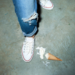 fallen ice cream