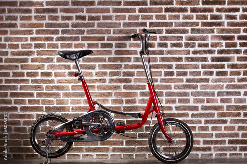 Mini red bicycle