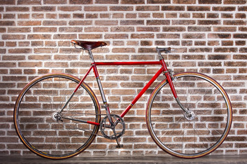 Red retro bicycle