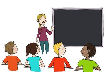 spiegazione in classe