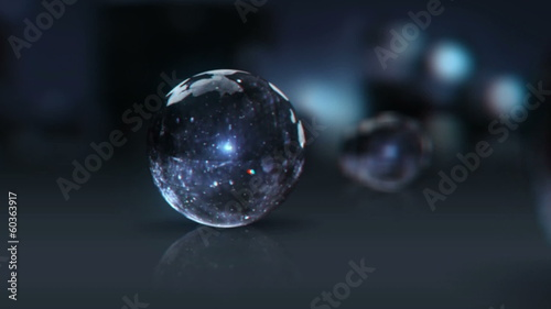 vj, glass ball on a black background. 3d, stereoscopic, anaglyph