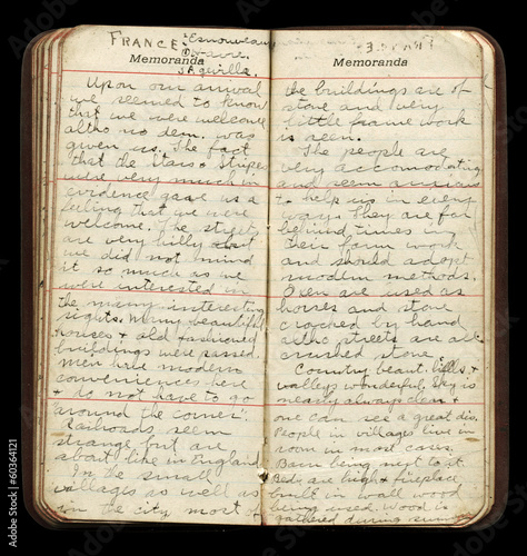 Americna WWI Soldier Diary Pages