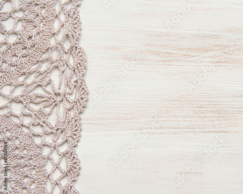 Crochet doily border shabby chic