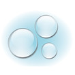 Transparent water drop set vector