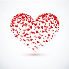 Serca konfetti - Heart Shape