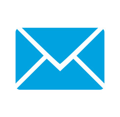 Envelope  -Vector clean blue icon
