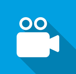 Video camera - Flat icon for web and mobile apps