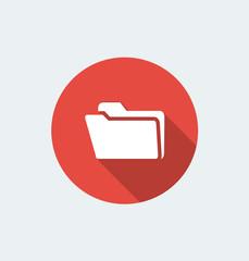 Folder - flat design with long shadow