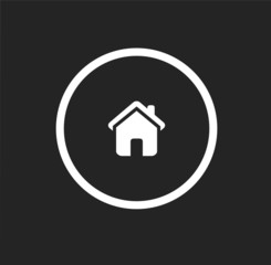 Home - black circle vector icon