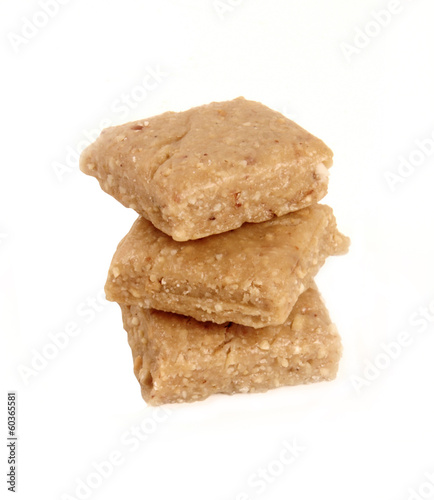 Indian peanut and jaggery sweet popularly known as Gazak