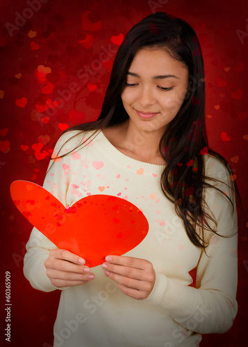 Girl Reading Valentine's Day Card