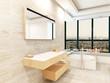 Tiled bathroom interior with fantastic jacuzzi