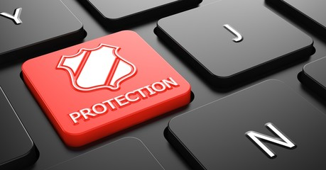 Protection on Red Keyboard Button.
