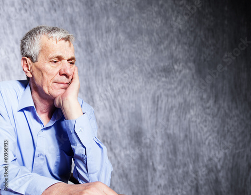 elderly stressed businessman