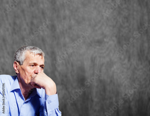 Elderly worried businessman