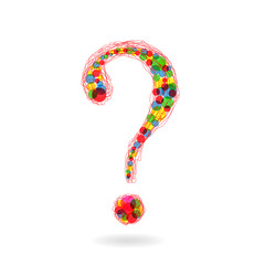 Colorful question mark, excellent quality