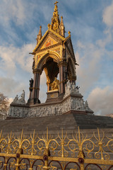 Albert memorial in Kensington gardens, London.