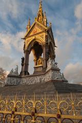 Albert memorial in Kensington gardens, London.
