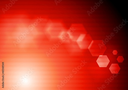 Bright red tech vector design