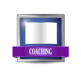 coaching icon illustration design